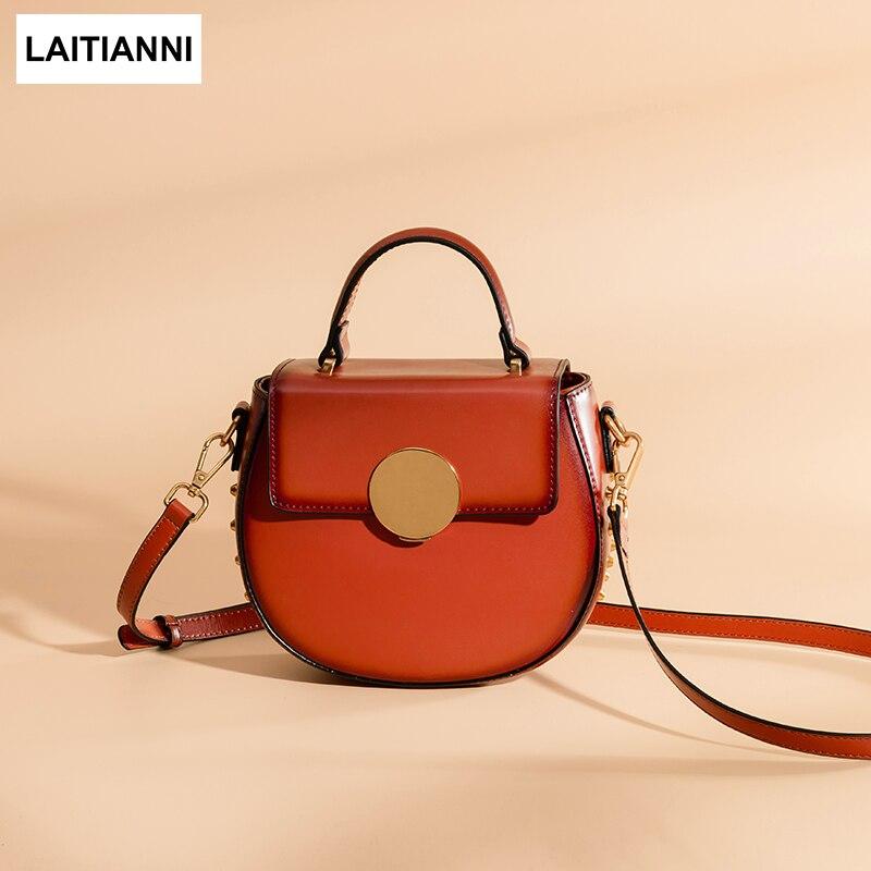 Women Purse Brand Baobao Genuine Leather Female Round Messenger Bags Metal Buckle Lusso New Fashion Lady Handbags клатч brand new messenger wlhb2094 16