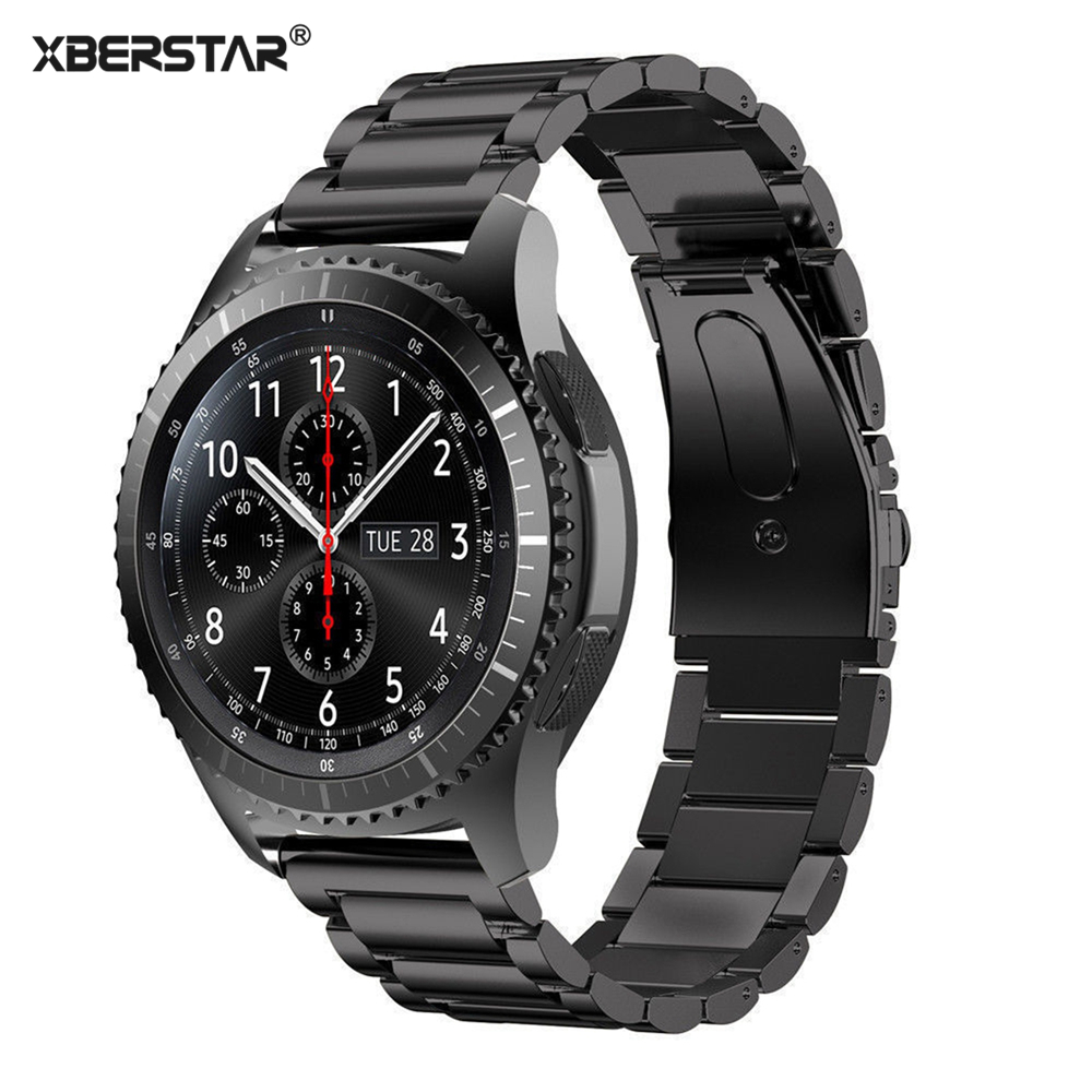 Stainless Steel Watch Bands Bracelet Strap for Samsung Gear S3 Frontier/ Classic SM-R770 SM-R760 SM-R765 Smart Watch