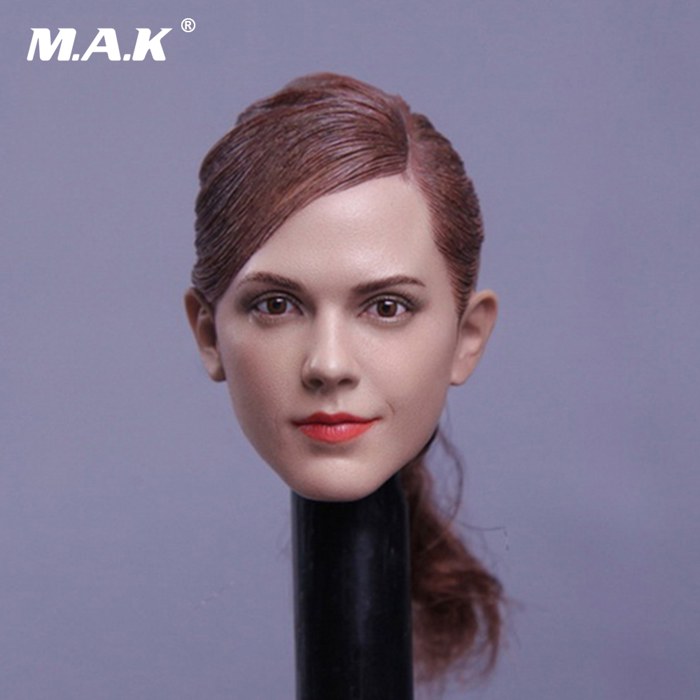 1/6 Emma Watson Hermione Female Head Sculpt Beauty Headplay MA012 For 12 PH Female Action Figure Body dstoys d 005 1 6 scale female head sculpt beauty girl headplay long curly hair for 12 ht phicen action figure