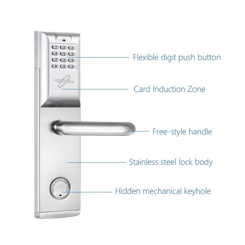 Smart password door lock keypad touch screen card lock for 1 touch door lock