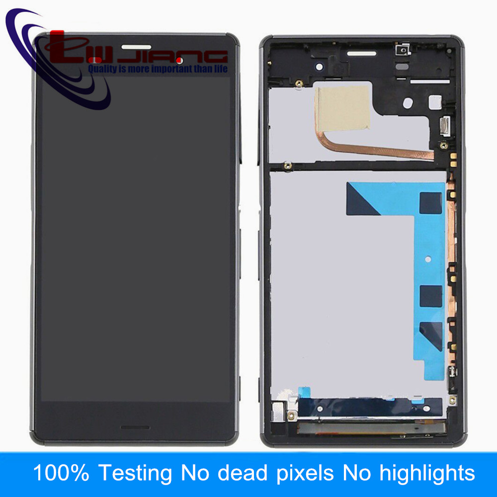 Original Liujing LCD Display Touch Screen Digitizer Assembly For Sony Z3 L55t D6653 D6633 With Frame