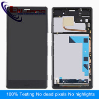 Liujing Original LCD Display For Sony Z3 L55t D6603 D6653 D6633 Touch Screen Digitizer Assembly With Frame