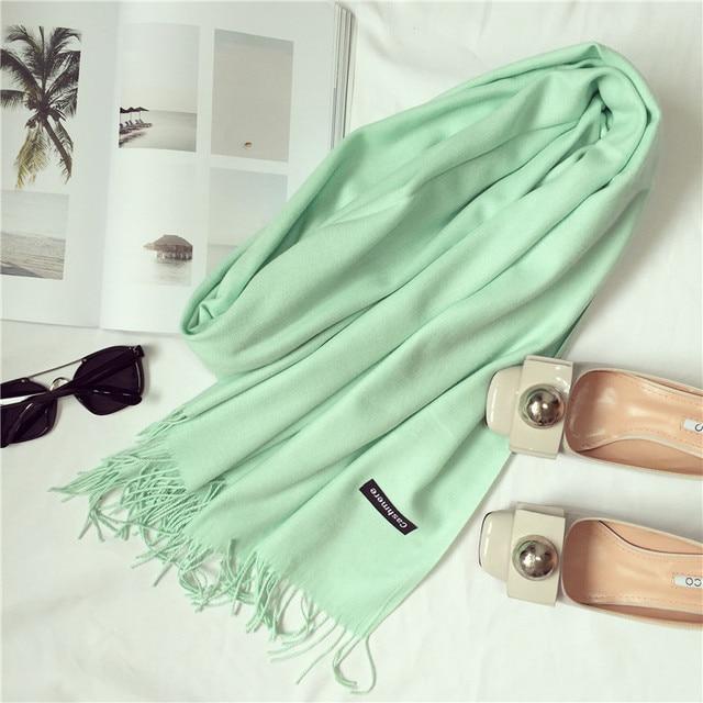 2017 brand women scarf fashion soild autumn winter cashmere scarves lady warmer pashmina long shawl wraps bandana foulard female