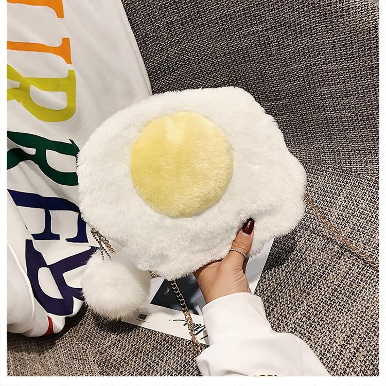 Bolsa divertida Femenina Huevo Frito