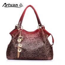 Marca de lujo de diseñador de bolsos de mano de mujer PU de cuero ahuecado bolsos de borla señoras messegner bolso de hombro bolsa femenina LH33