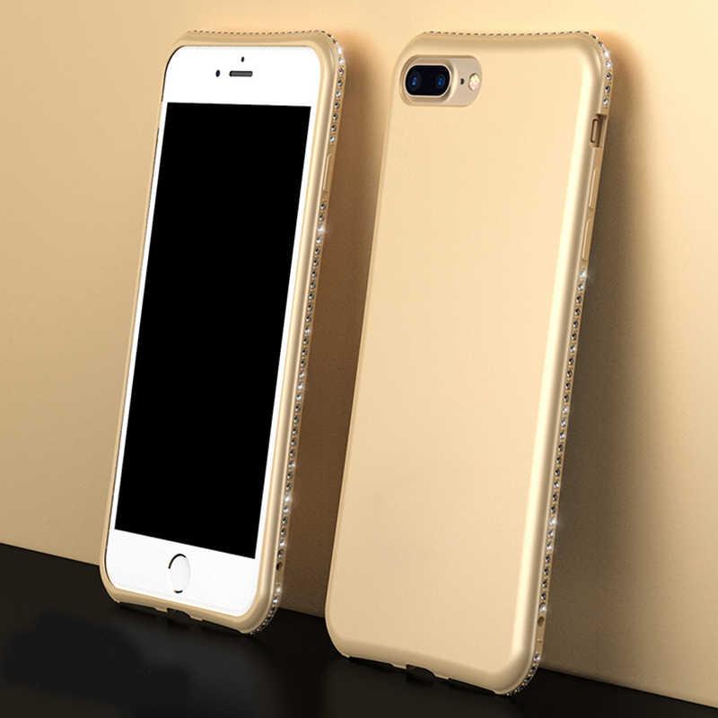 Блеск матовый роскошный бриллиант для iPhone 6S 6S Plus 7 7S iPhone 8 Plus X 10 5 5S 5SE 6Plus 6S Plus 7 Plus, 8 Plus, чехол для мобильного телефона