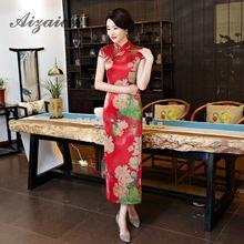 Wedding Dresses Chinese Traditional Women Qipao Dress Red Sexy Oriental Long Cheongsam Flower Robe Chinoise Sobretudo Feminino