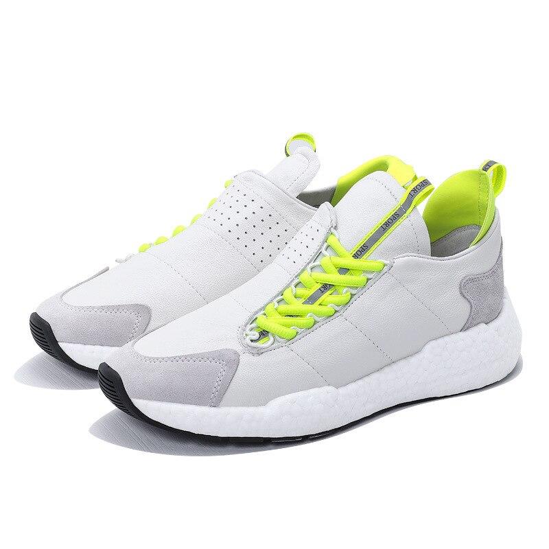 Negro blanco Primavera Negro Aumento Deporte Cuero Owen Zapatos Zapatillas Lujo Seak De Hombres Casuales Otoño Papá Vaca Altura Encaje Planos nZawzURHqn