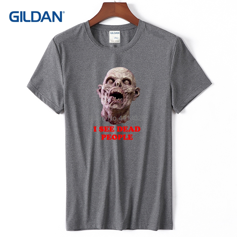 91c38a73 Blue Mens Shirts 2018 I See Dead People Tees With Sayings Cotton Custom T  Shirt-in T-Shirts from Men's Clothing on Aliexpress.com | Alibaba Group