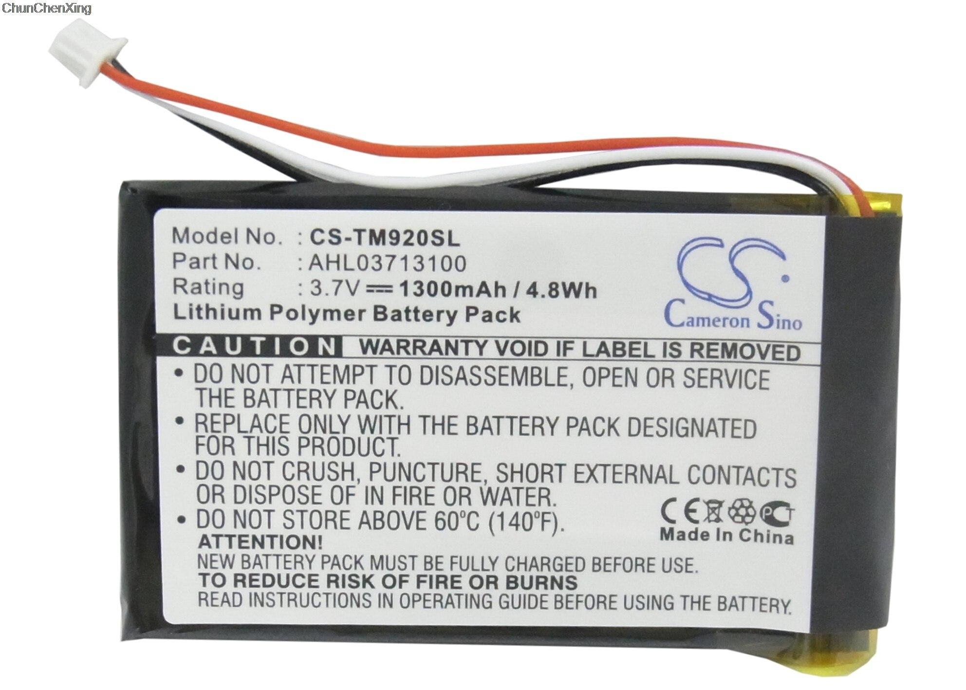 Аккумулятор Cameron Sino, 1300 мАч, AHL03713100 для TomTom 340S LIVE XL, Go 920, 920T, XL330, One XL 340