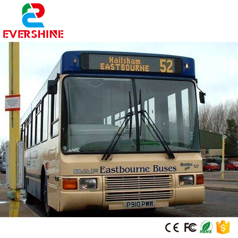 2017! Amber Color W199 *H37 cm Popular LED bus sign display / Car sign/ vehicle sign display bus video led sign p5 flashing led route sign in china