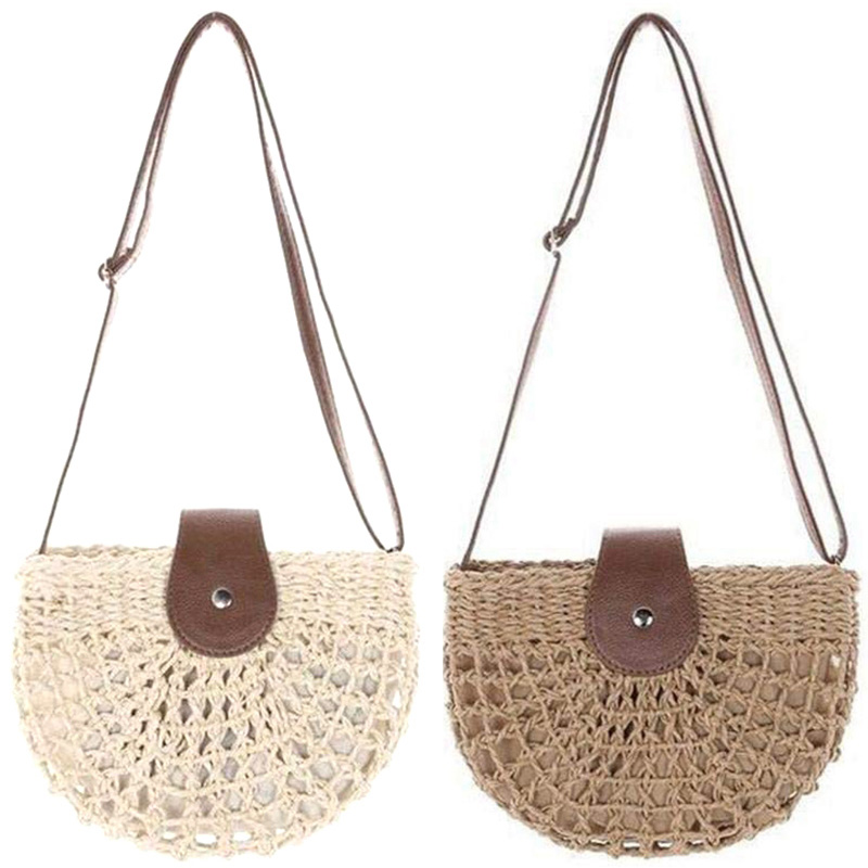 Latest Collection Of Fggs-rattan Braided Bag Woven Bag Shoulder-slung Hollow Beach Bag Holiday Beach Bag Mori Girl Small Fresh Straw Bag Crossbody Matching In Colour Luggage & Bags