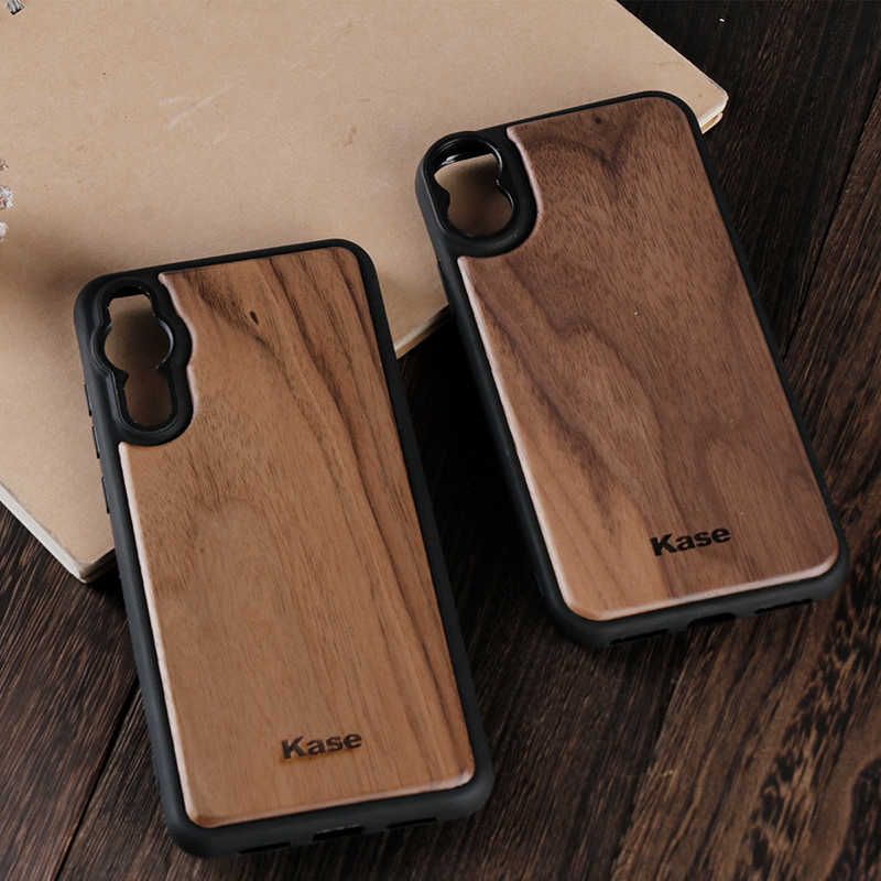 Kase Wood Mobile Phone Case VS Moment for iPhone Xs Max X 7 8 Plus Huawei P20 Pro Wide Angle Lens Telephoto Portrait Lenses
