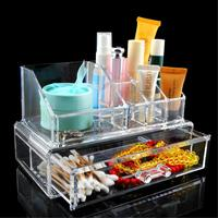 11 Grid 2 Layer Drawers Cabinet Storage Box Makeup Case Jewelry Organizer Container Brand Clear Acrylic