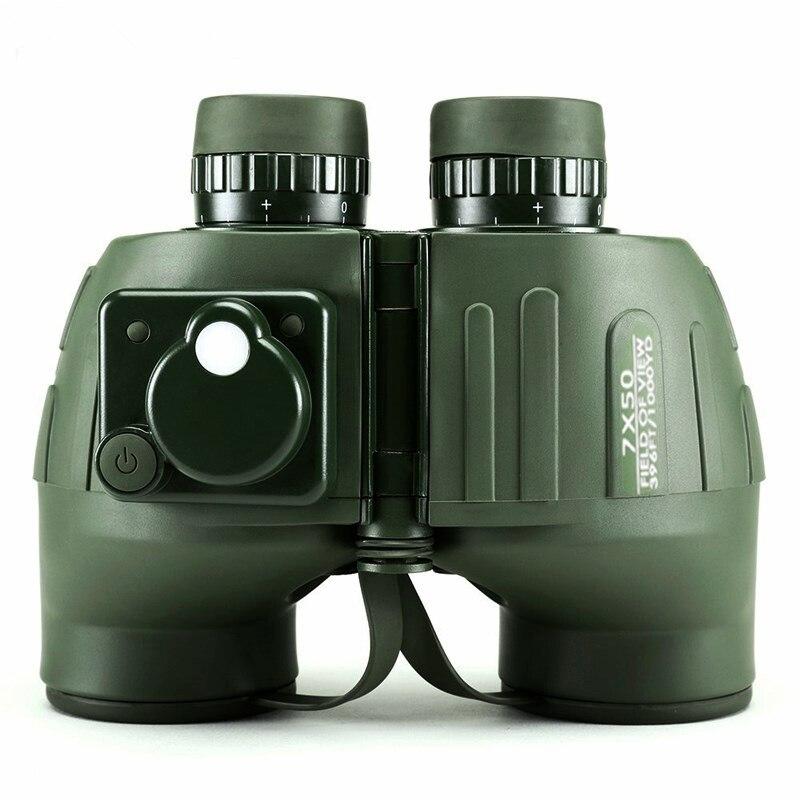 Powerful Military Binoculars 7X50 Professional Telescope High Quality Nitrogen Waterproof binocular with Rangefinder for Hunting Бинокль