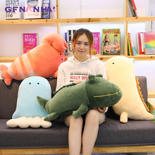 1pc 40/50cm Cartoon Aquatic Creatures Plush Toy Baby Lovely Lobster Jellyfish Salamanders Crocodile Pillow Stuffed Toys Gifts