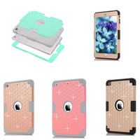 LD Diamond Style Shockproof Heavy Duty Protective Hybrid Silicon Plasic Back Case Cover For IPad Mini