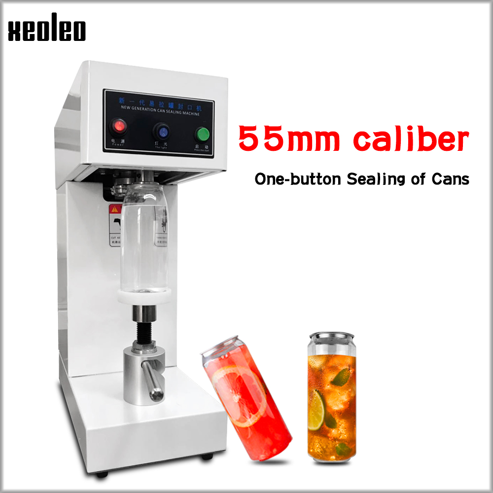 XEOLEO Cans sealing machine 55mm Drink bottle sealer Beverage seal machine for Milk tea/Coffee Can sealer 220V/110VXEOLEO Cans sealing machine 55mm Drink bottle sealer Beverage seal machine for Milk tea/Coffee Can sealer 220V/110V