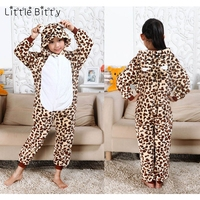 Cotton Kids Pajamas For 3 12 Years Animal Jumpsuit Leopard Bear Pig Tiger Sleeper Baby Boys