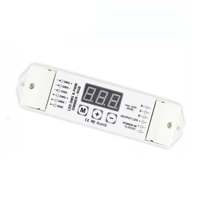 1X RGB 3CH DMX512 decoder RGB LED strip DMX512 decoder