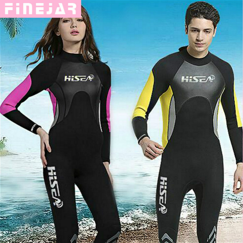 Hisea 3mm Neopren Wetsuit Badedrakt Equipent For Dykking Scuba Svømming Surfing Spearfishing Suit Triathlon Wetsuit M059