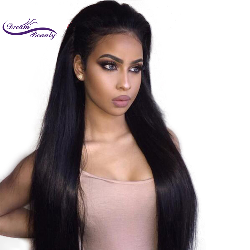 Wicca Fashion 150 Density remy Brazilian silky Straight Pre Plucked 360 Lace Frontal Wig With Baby Hair Bleached Knots