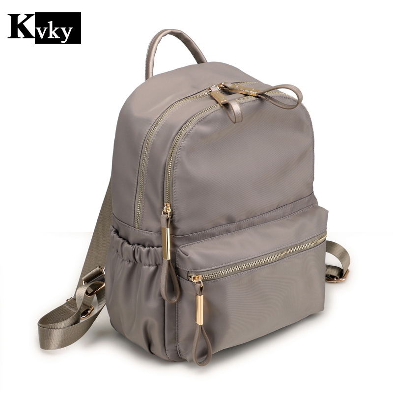 Women Nylon Backpacks for Teenage Girls Youth Daypacks Mochila Feminina SchoolBag Colleg ...