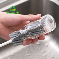 JiangChaoBo Silicone Glass Cleaning Brush Long Handle Cup Brush Household Tea Kitchen Wash Cup Sponge Brush