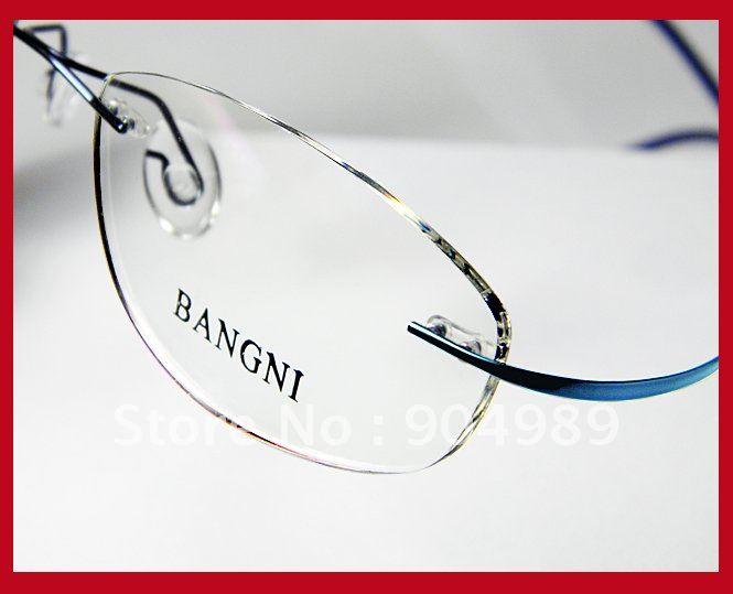 ladies women rimless 100 beta titanium optical