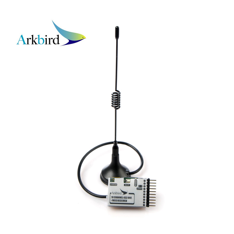 New item Arkbird 433MHz 10 Channel UHF FHSS Receiver with antenna for long range system Rc racing drone High quality only 26g high quality 10pcs spring antenna 433mhz antenna helical remote network accessories
