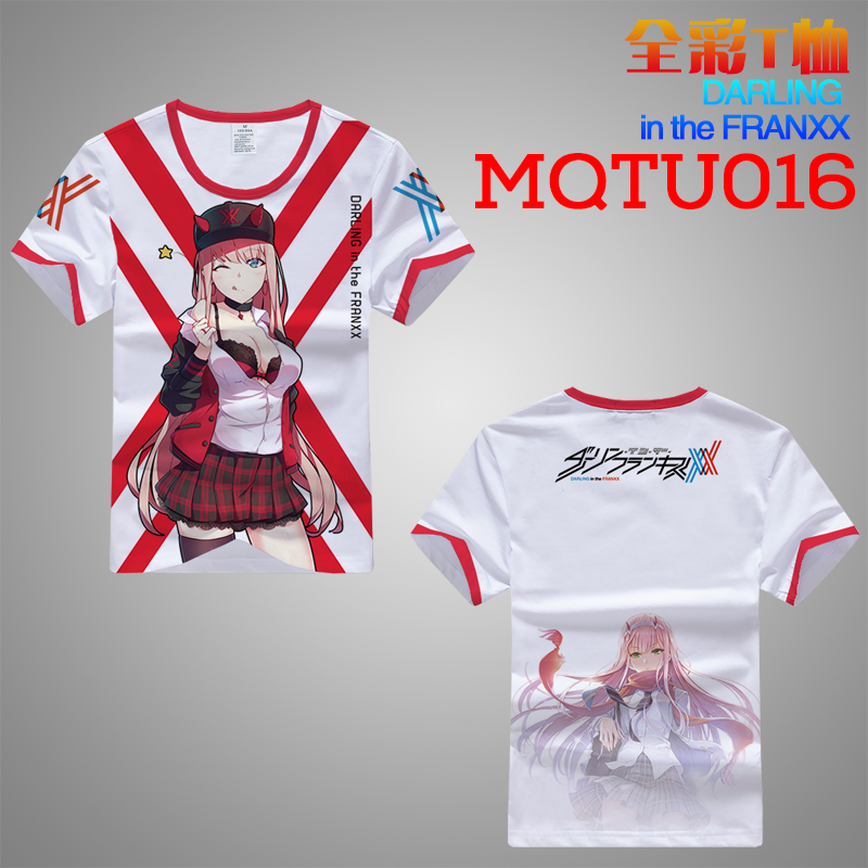 Darling in the FRANXX Anime T Shirt Men Women New Fashion Hip Hop Tops Tees Casual Funny Graphic Tshirt Plus Size M-XXXL A