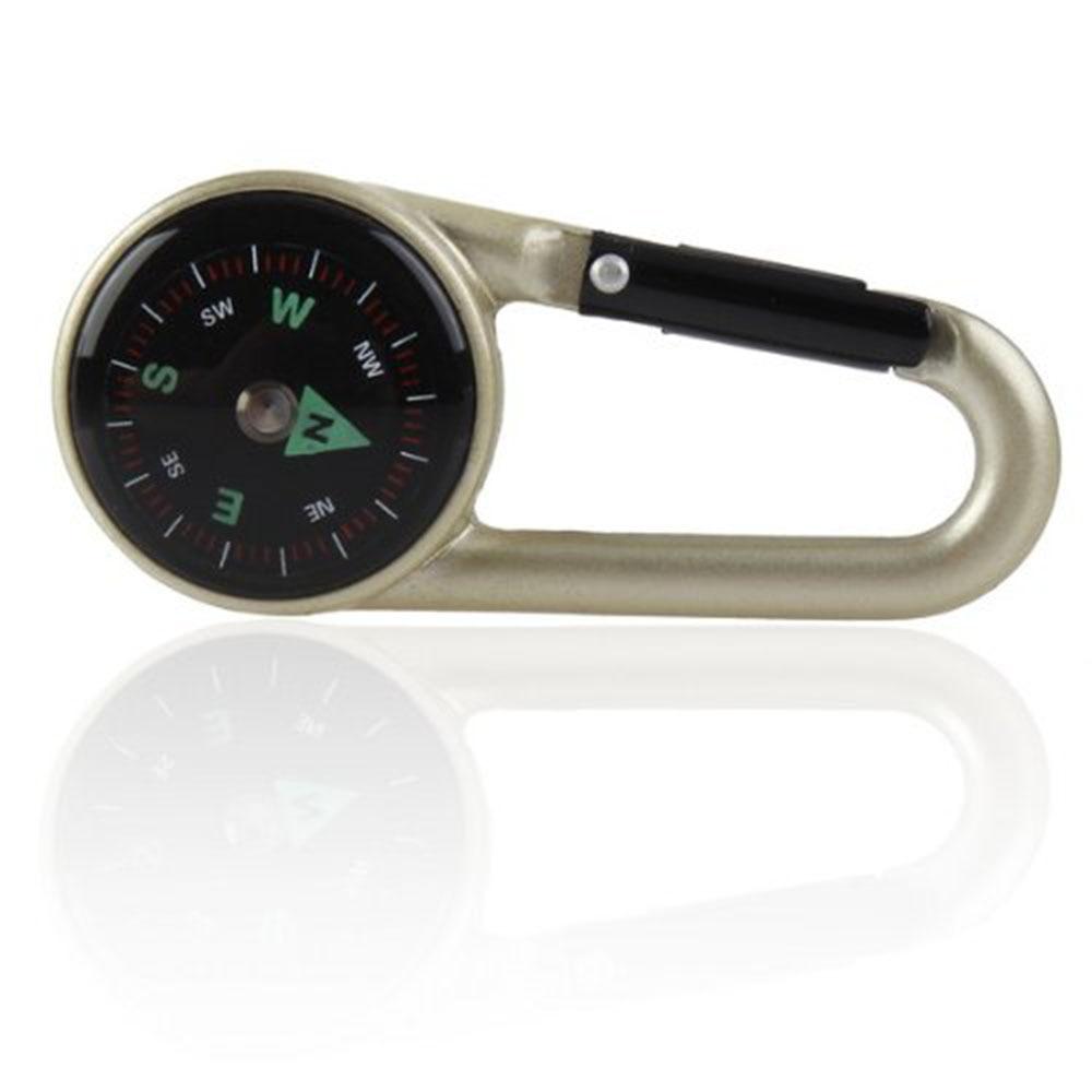 10 paires de porte-clés mousqueton boussole, Kit de Clip mousqueton compas rempli de liquide de survie avec mousqueton et balance en plastique