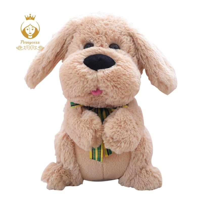 1 piezas 28 CM eléctricos Peek A Boo perro de juguete de felpa animales de peluche cantando juguetes de la música oídos aleteo movimiento interactivo muñeca regalos de los niños