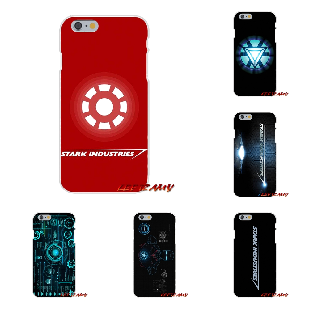 Stark Industries Iron Man reactor Slim Silicone phone Case For iPhone X 4 4S 5 5S 5C SE 6 6S 7 8 Plus