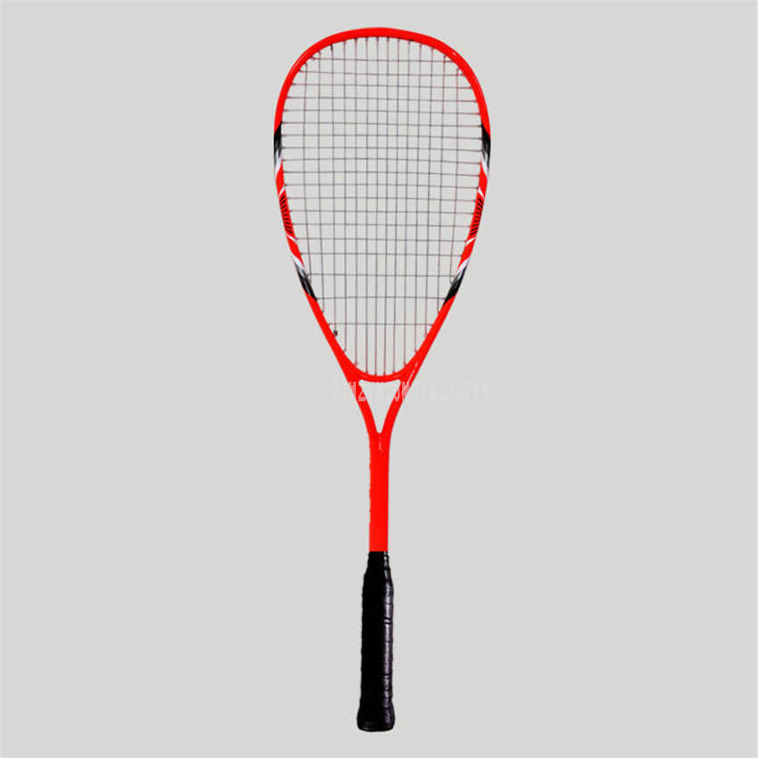 Lightweight Single Professional Squash Racket Sport Training Aluminum Carbon Fiber Beginner Wall Racket With String FCSQ-01