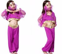 Child Girl Princess Jasmine Aladdin Kids Fancy Purple Dress Halloween Costume