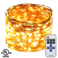 LED String Lights 30m 50m Copper Wire Christmas Starry Fairy Decorative Holiday Lights 12V 2A Adapter