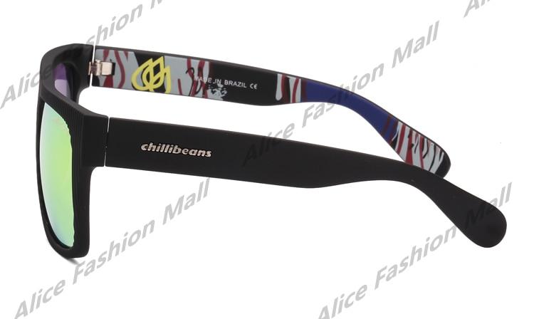 aede01b783 Vintage Sunglasses Brand Chillibeans Designer Stripe Frame Surface Oculos  Glasses Fashion Men Gafas De Sol Masculinos Eyewears-in Sunglasses from  Apparel ...