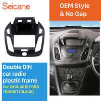 Seicane Best Double Din Car Radio Fascia for 2014 2015 Ford Transit Trim Panel Installation Kit Audio Cover Dash Mount