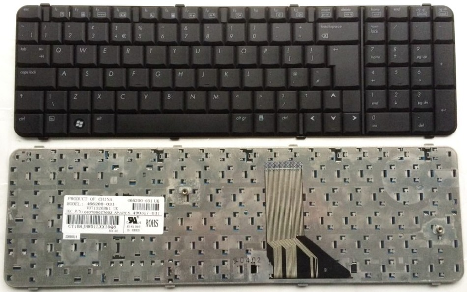 UI Black New English Replace laptop keyboard FOR HP Compaq 6830 6830S