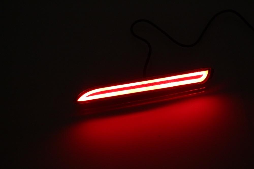 eOsuns светодиодные задние бампера света, фары дальнего света, скользящего стоп-сигнал для Toyota желаю 2009-13, иннова 2012-15, беспроводной переключатель