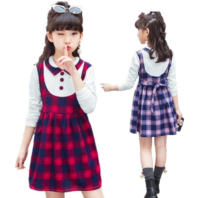 plaid teenage girl dress fashion