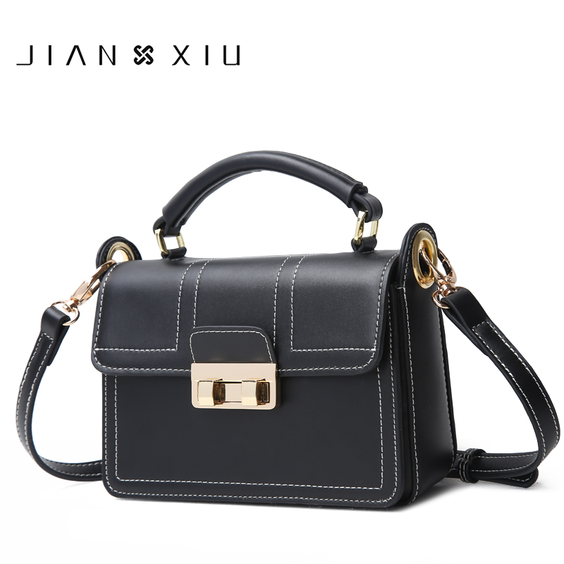JIANXIU Brand Women Split Leather Handbags Famous Brands Handbag Female Messenger Shoulder Bag 2018 New Top-hand Small Tote Bags 2016 women split leather handbags the waves peekaboo bags famous brands designer fashion ruffles handbag tote shoulder bag