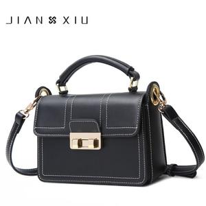JIANXIU Brand Women Split Leather Handbags Famous Brands Handbag Female Messenger Shoulder Bag 2018 New Top-hand Small Tote Bags