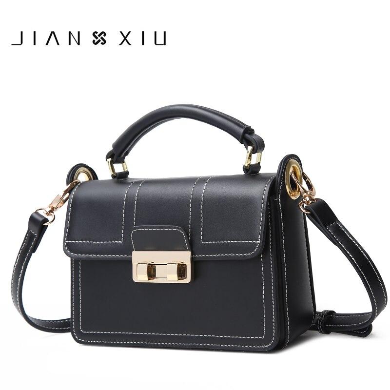 JIANXIU ยี่ห้อผู้หญิงแยกหนังกระเป๋าถือแบรนด์ที่มีชื่อเสียงกระเป๋าถือหญิง Messenger ไหล่กระเป๋า 2018 ใหม่ มือขนาดเล็กกระเป๋า-ใน กระเป๋าสะพายไหล่ จาก สัมภาระและกระเป๋า บน   1
