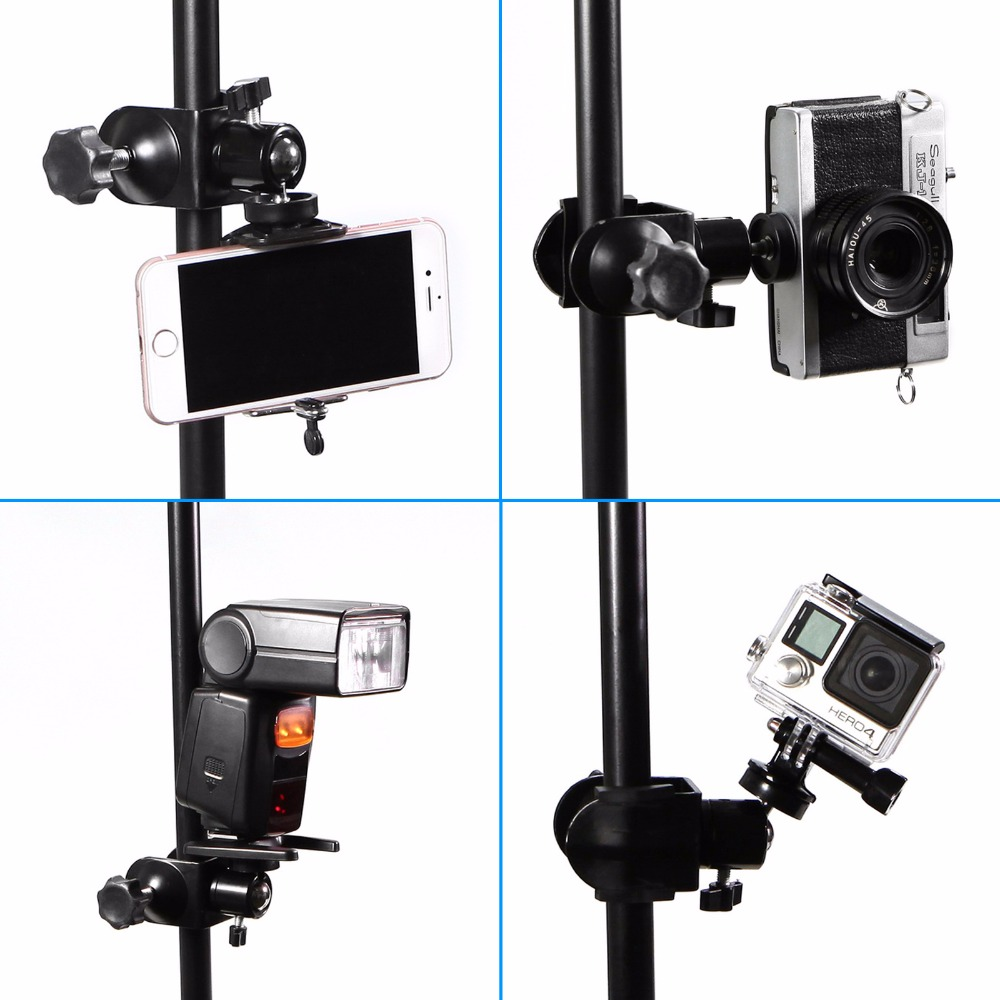 Constructive Meking U-clamp With Ballhead Holding Camera Speedlite On Table Pole Studio Accessoires With 1/4 Screw Thread For Tubes And Clamp Buy Now