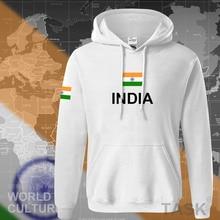 Índia hoodies moletom dos homens suor novo hip hop streetwear roupas jerseyes futebolista agasalho nação bandeira indiana em velo