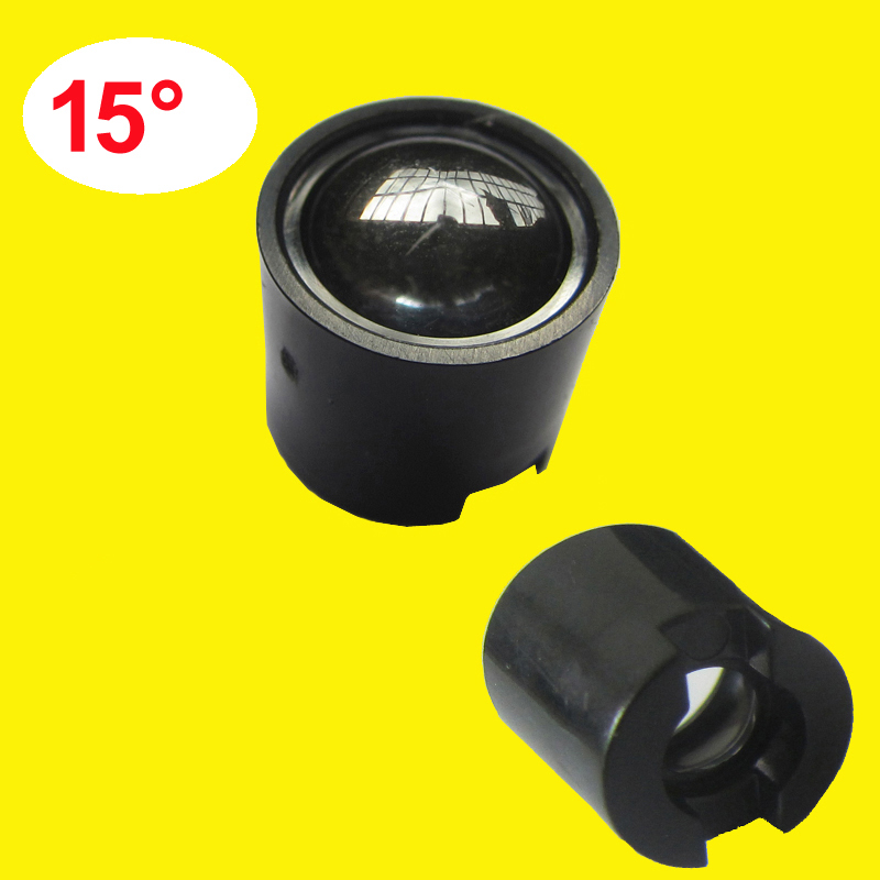 Lot 10 20 50 100 300pcs 14mm 15 Degree Clear LED Lens + 15mm Black Holder For 1W 3W 5W LED Light Diodes Lamp