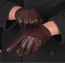 Men's Leather Short Touchscreen Gloves