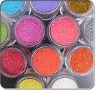 Jumbo Jar 12 Mix Colors Acrylic Glitter Dust Powder Nail Art Decoration Set For Nail Tips Free Shippping Wholesales 6sets/lot